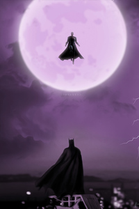 Batman Vs Superman Moon Art