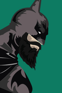 800x1280 Batman Vs Superman With Beard