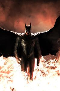 Batman Walking Through Fire