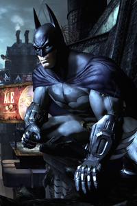 Batman Watching Gotham City In The Night