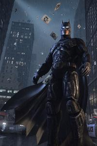 Batman Watching Gotham City