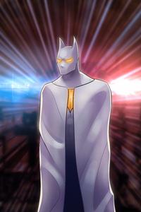 Batman White Gold Suit 4k