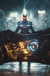 Batman With Batmobile