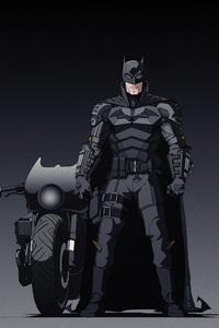 720x1280 Batman With Bike Illustrator Art 4k