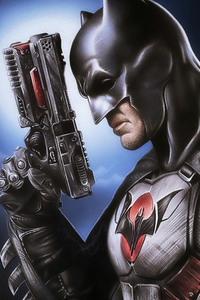 Batman With Gun Art
