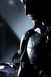 Batman With Joker Batmobile