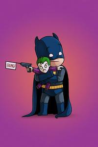 Batman With Little Joker Bang