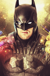 Batman With Thanos Gauntlet 5k