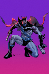 320x480 Batman With Two Guns 4k