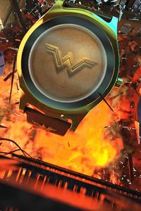 480x854 Batman Wonder Woman Flash Smartwatch Hero