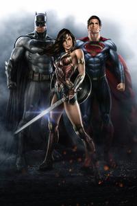 1080x2160 Batman Wonder Woman Superman 4k