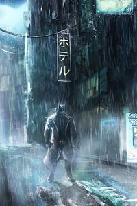 320x480 Batman X Blade Runner Concept 4k
