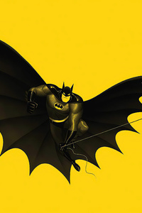 Batman Yellow 4k