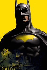 480x800 Batman Yellow Background
