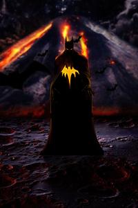 720x1280 Batman Yellow Logo 4k
