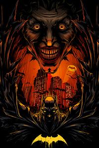 320x568 Batman Yellow Logo