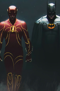 1080x2160 Batmans And Flash 4k