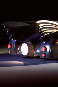 Batmobile Rendered Rear View 4k