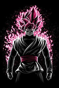 320x568 Battle Fire Black Rose Dragon Ball Z 4k