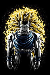 320x568 Battle Fire Super Saiyan 3 Goku Dragon Ball Z