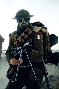 640x1136 Battlefield 1 Soldier 4k