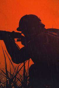 Battlefield 1 Soldier Silhouette 4k