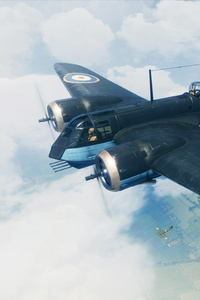 480x854 Battlefield V Plane Fight 5k