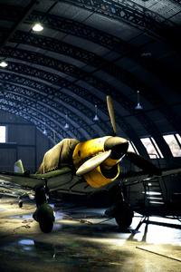 1280x2120 Battlefield V Plane Hangar 4k