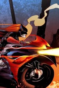 Batwoman Driving Bike 5k Artwork
