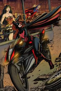 2160x3840 Batwoman On Batblade