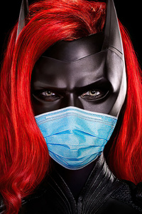 1125x2436 Batwoman Safety Mask 4k