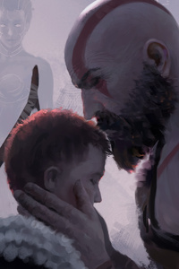 1080x1920 Be Safe Son God Of War 4