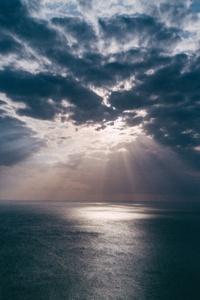 Beach Clouds Landscape Light Evening Sun Rays
