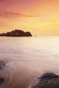 Beach Ocean Seashore Sunset