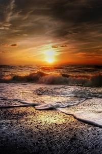 Beach Summer Sunset Waves