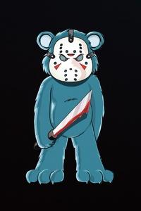 640x960 Bear Horror With Sword 4k