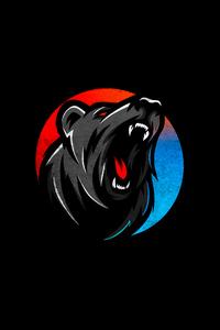 800x1280 Bear Howling Dark 5k