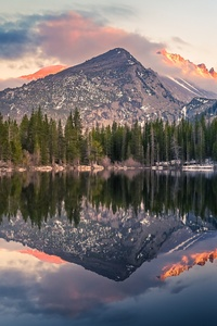 480x854 Bear Lake Reflection At Rocky Mountain National Park 4k