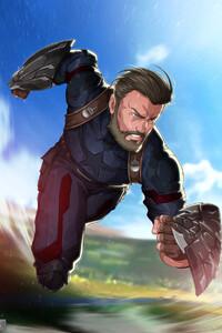 1125x2436 Beard Captain America