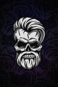 Beard Skull Dark 4k