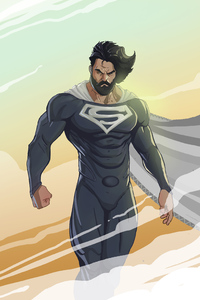 320x568 Bearded Superman