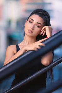 1080x1920 Beautiful Black Hair Girl Outdoor