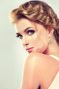 Beautiful Blonde Face