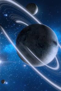 1080x2280 Beautiful Blue Planets 4k