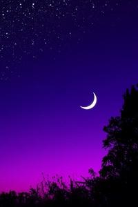 Beautiful Blue Purple Sky 4k