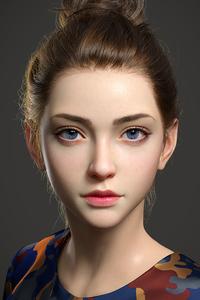 720x1280 Beautiful Cgi Girl 4k