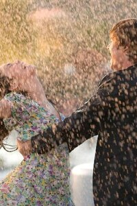 Beautiful Couple In Rain