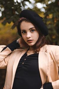 Beautiful Girl Outdoor Hat 4k