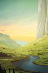 360x640 Beautiful Landscape Morning 5k
