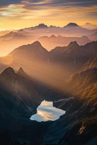 240x400 Beautiful Morning In Mountains 4k